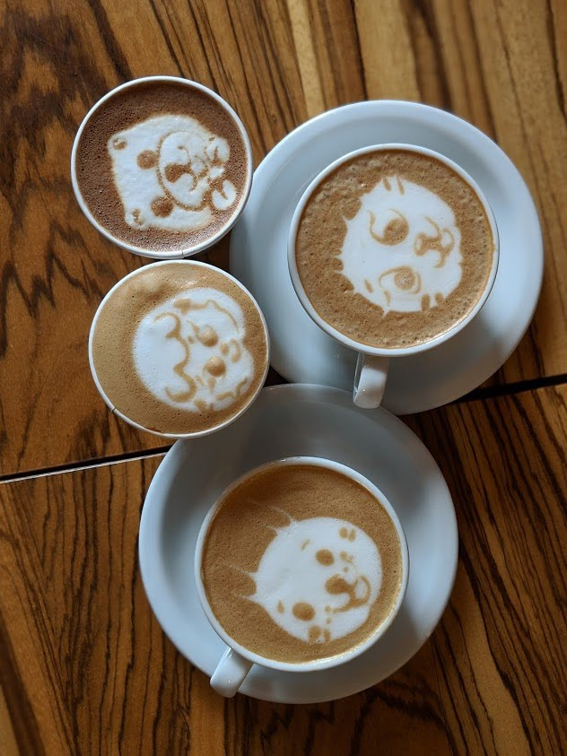 Moore Coffee has the best latte art and is pup friendly.