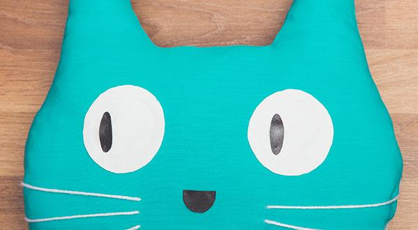 Aqua coloured cat photo